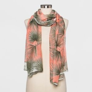 Women's Tropical Palm Print Oblong Scarf - 751
